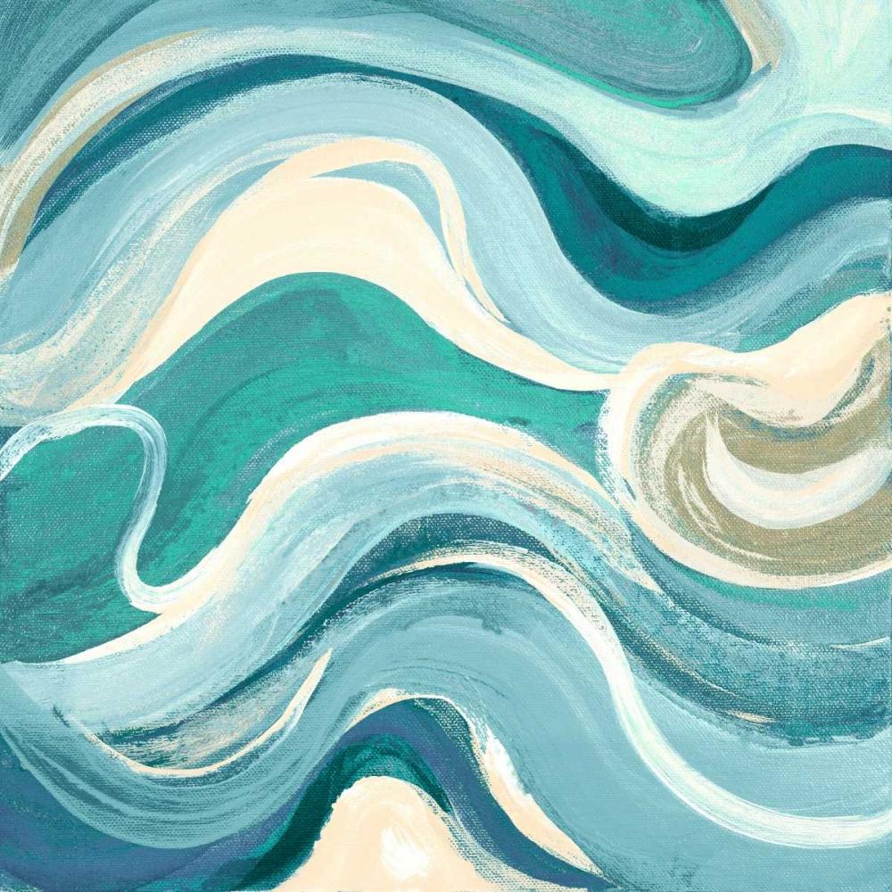 kunstdruck auf leinwand 100 baumwolle geschwungene waves. Black Bedroom Furniture Sets. Home Design Ideas