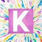 Color Explosion Monogram (K) - Nola James