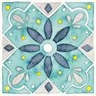 Garden Getaway Tile V Teal