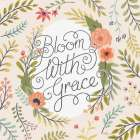 Retro Garden II - Bloom with Grace Pale Blush