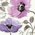 Floral Waltz Plum I