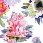 Watercolor Flower Composition VII
