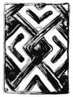 African Textile Woodcut IV -  Stellar Design Studio