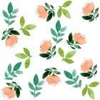 Peach Green Floral