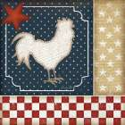 Red White and Blue Rooster I - Jennifer Pugh