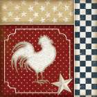 Red White and Blue Rooster IV - Jennifer Pugh