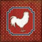 Red White and Blue Rooster IX - Jennifer Pugh