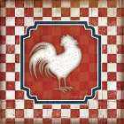 Red White and Blue Rooster XII - Jennifer Pugh