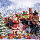 Santa and Red Train (Corti 30)