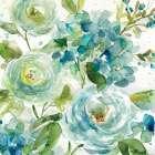 HAZ06 Cool Watercolor Floral