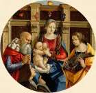 Madonna and Child with a Male Saint, Catherine of Alexandria and a Donor