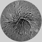 Unmarked Map of the Moon, South Pole