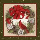 Cardinal Christmas Wreath - Linda Spivey