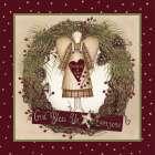 Folk Angel Christmas Wreath - Linda Spivey
