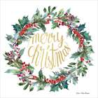 Merry Christmas Holly Wreath -  Seven Trees Design