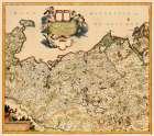 Mecklenburg Region Germany - De Wit 1688