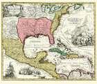 Central America New Spain Mexico - Homann 1732