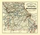 Missouri Railway Map - McHenry 1888