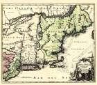New England North America - Homann 1780