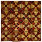 Quilt, Log Cabin Pattern, Pineapple variation -  Unknown 19th Century American Needleworker