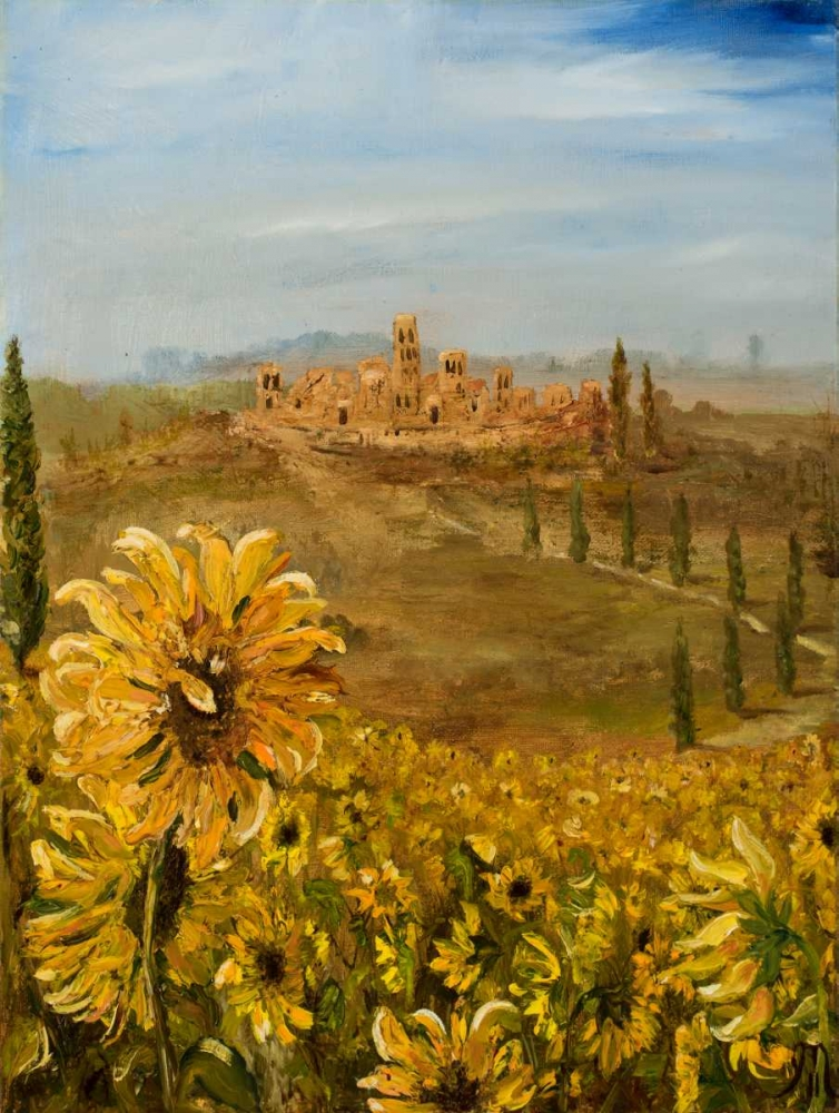 Tuscan Sunflowers I