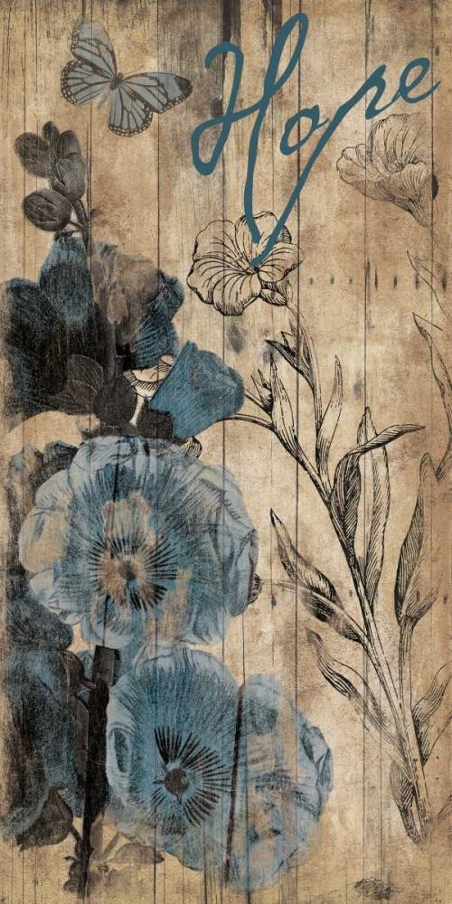 Wood Floral Hope