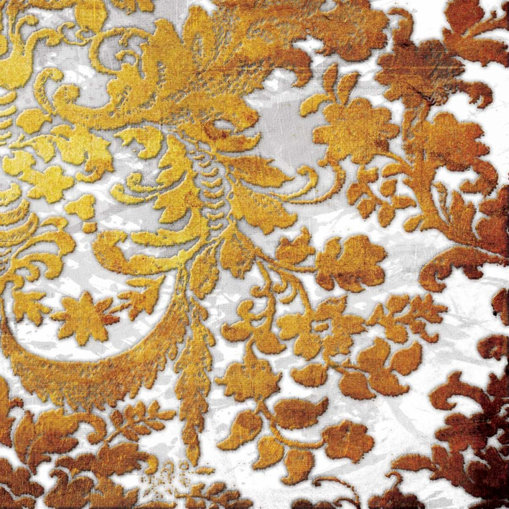 Gold Floral Stamp Two
