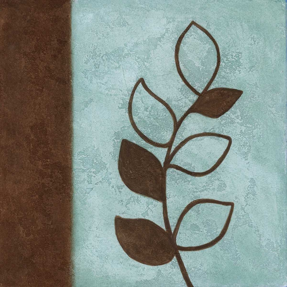Brown Leaves Square - Left