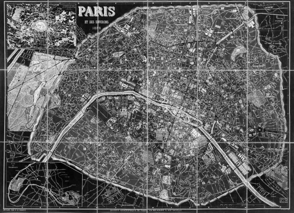 Paris Map BW