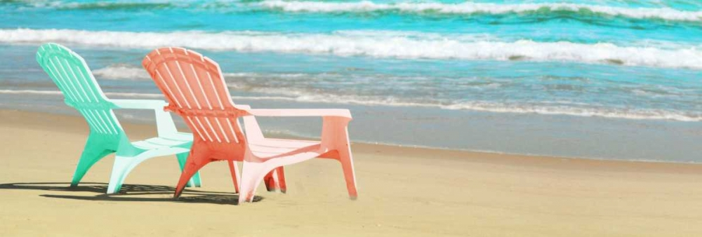 Bright Adirondak Chairs on the beach