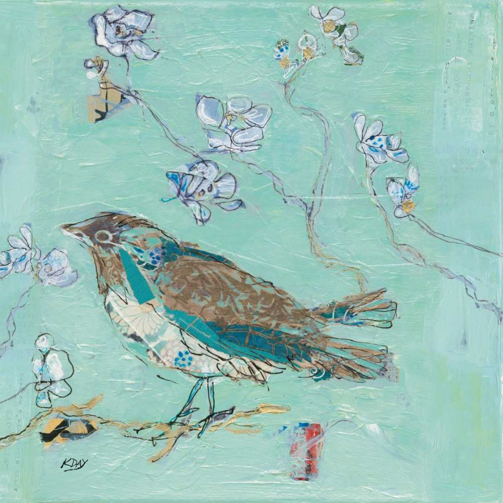 Aqua Bird with Teal