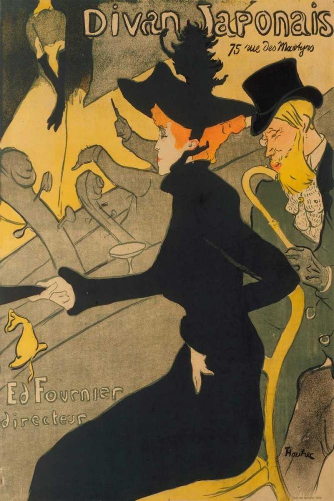 Henri de toulouse lautrec kunstwerken van de kunstenaar for Divan japonais toulouse lautrec