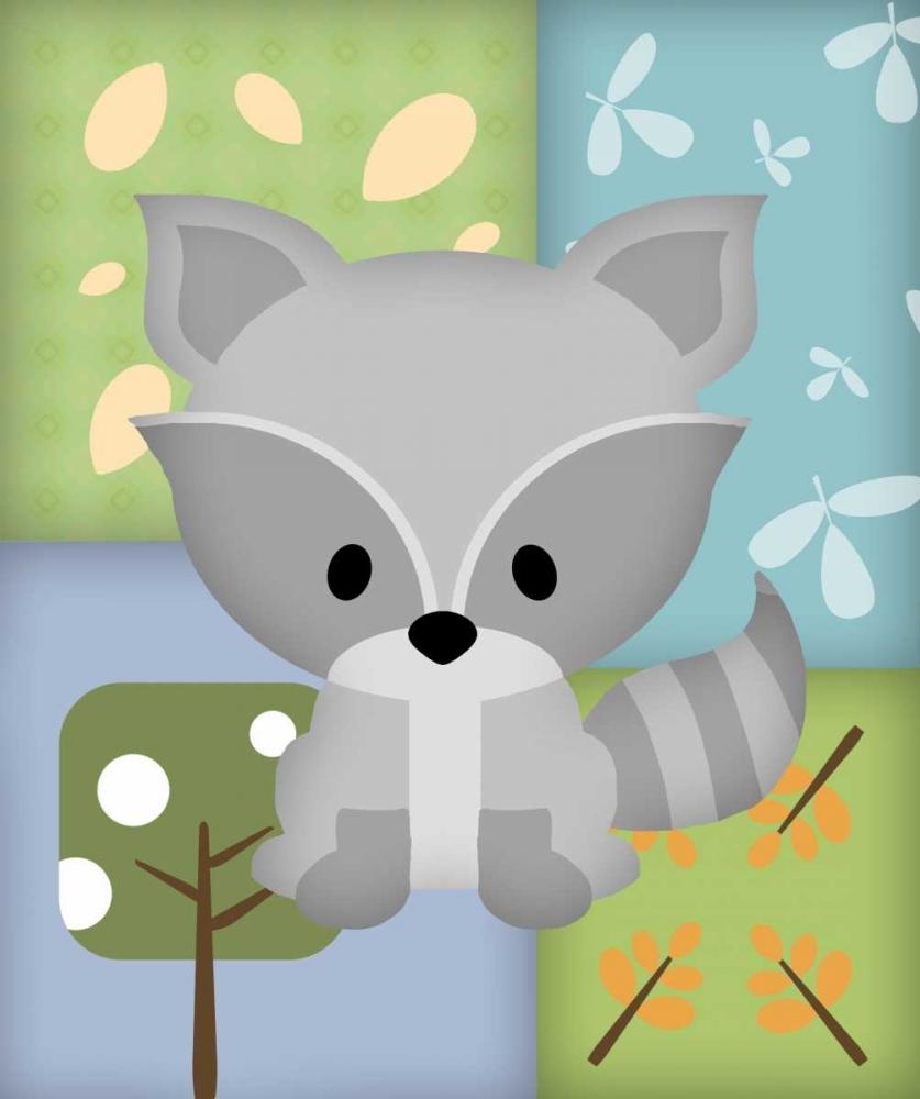 Woodland Raccoon Patchwork