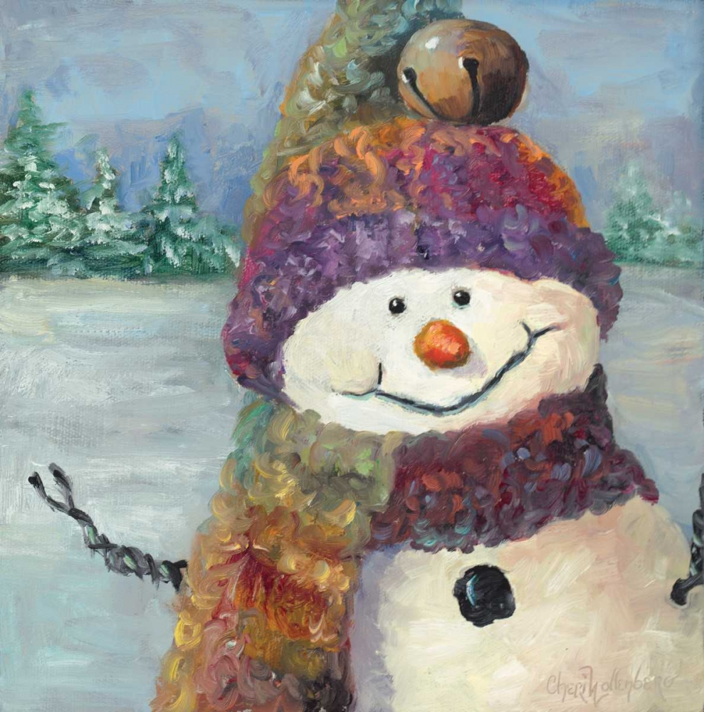 Purple Hat Snowman