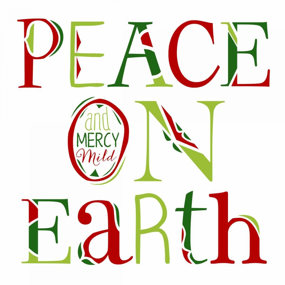 Peace on Earth on White