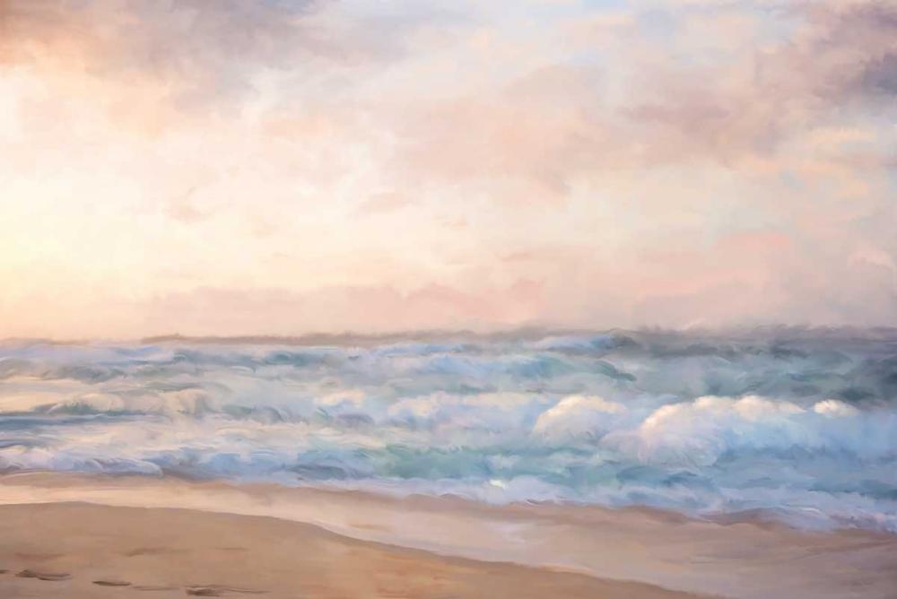 Heavy Seas at Sunset