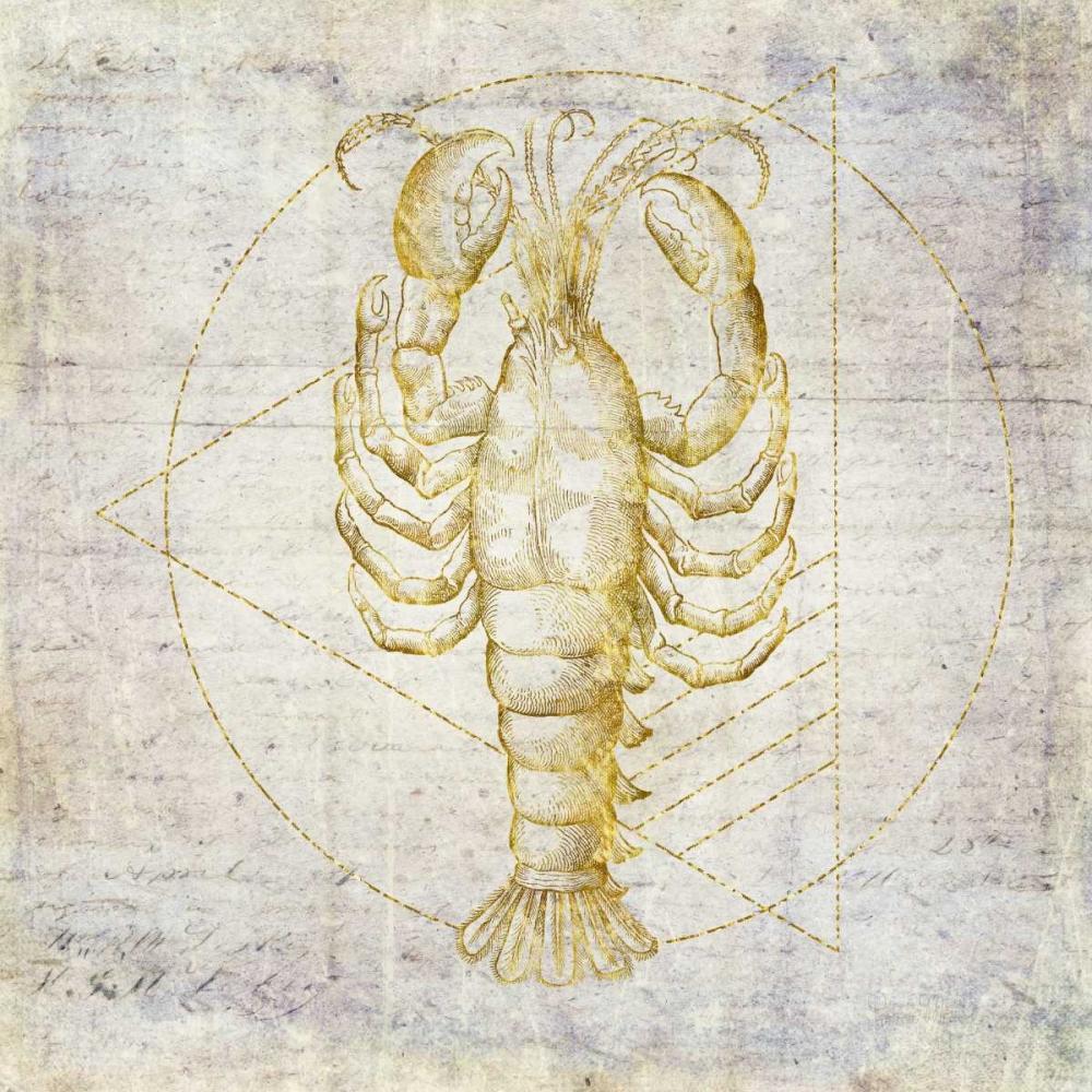 Lobster Geometric Gold