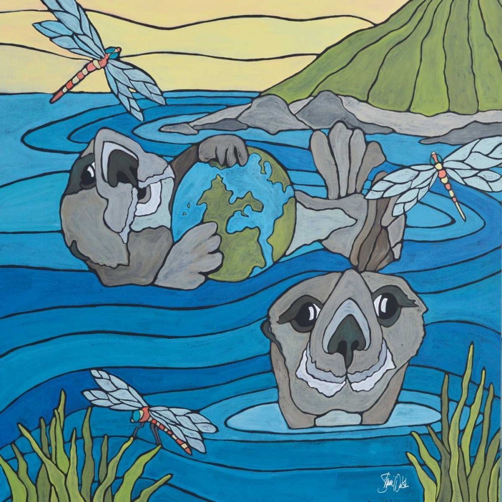 Otters and Dragonflies