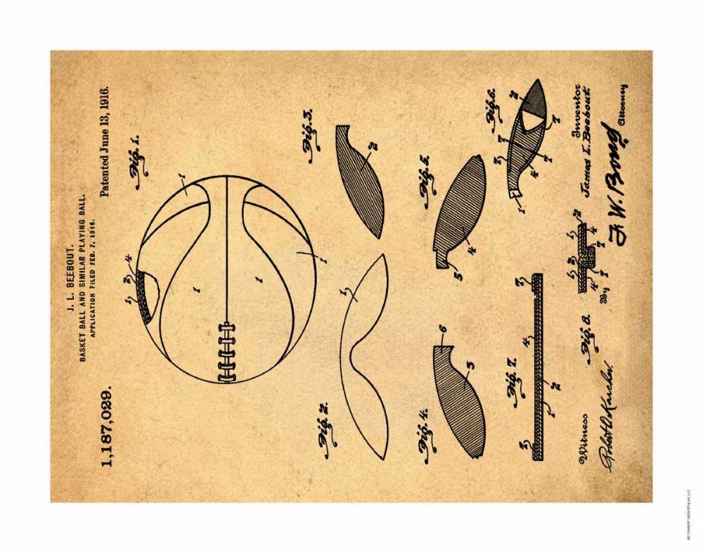 Basketball - 1916-Antique II