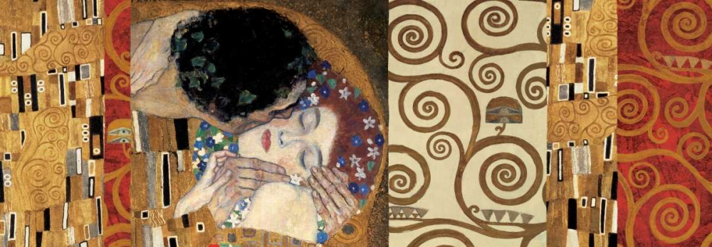 Klimt Deco-The Kiss