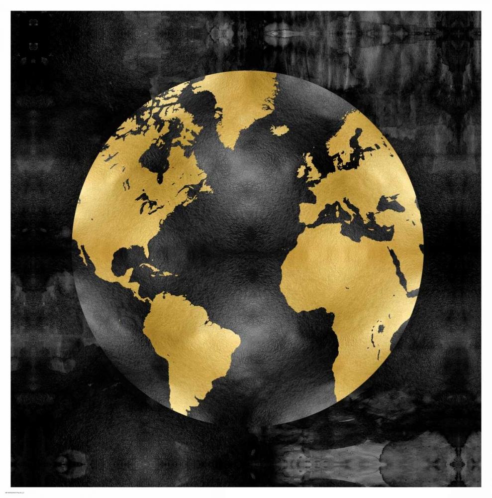 The Globe Gold on Black