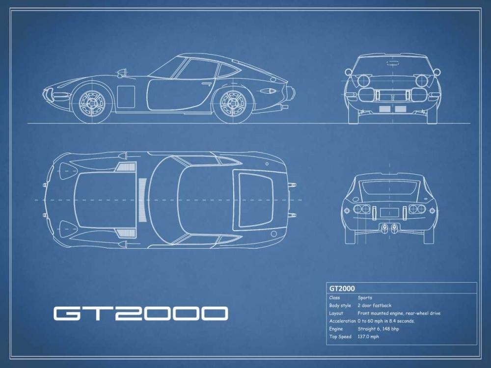 Toyota GT2000-Blue