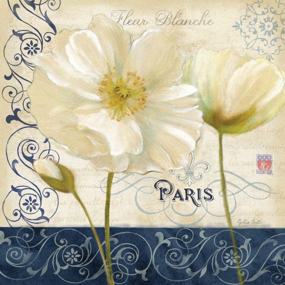Paris Poppies Blue Trim I