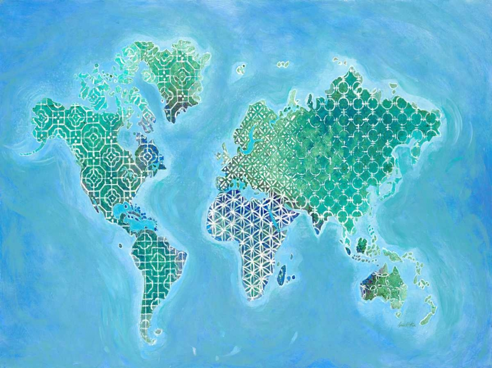 Global Patterned World Map