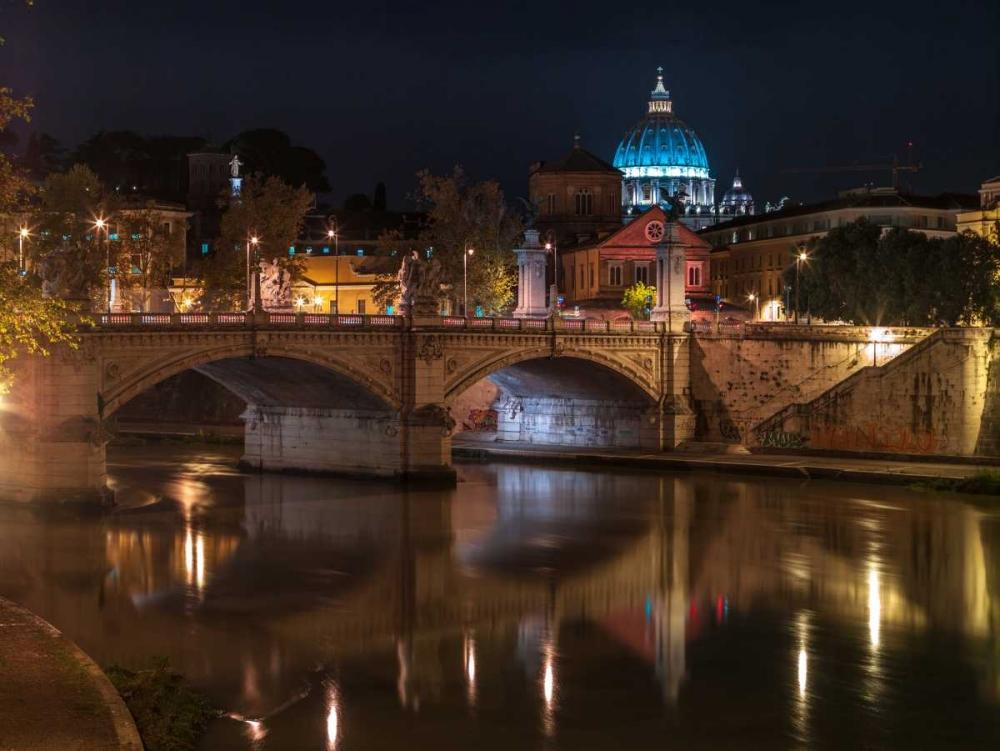 Castle St Angelo bridge in Rome, Italy