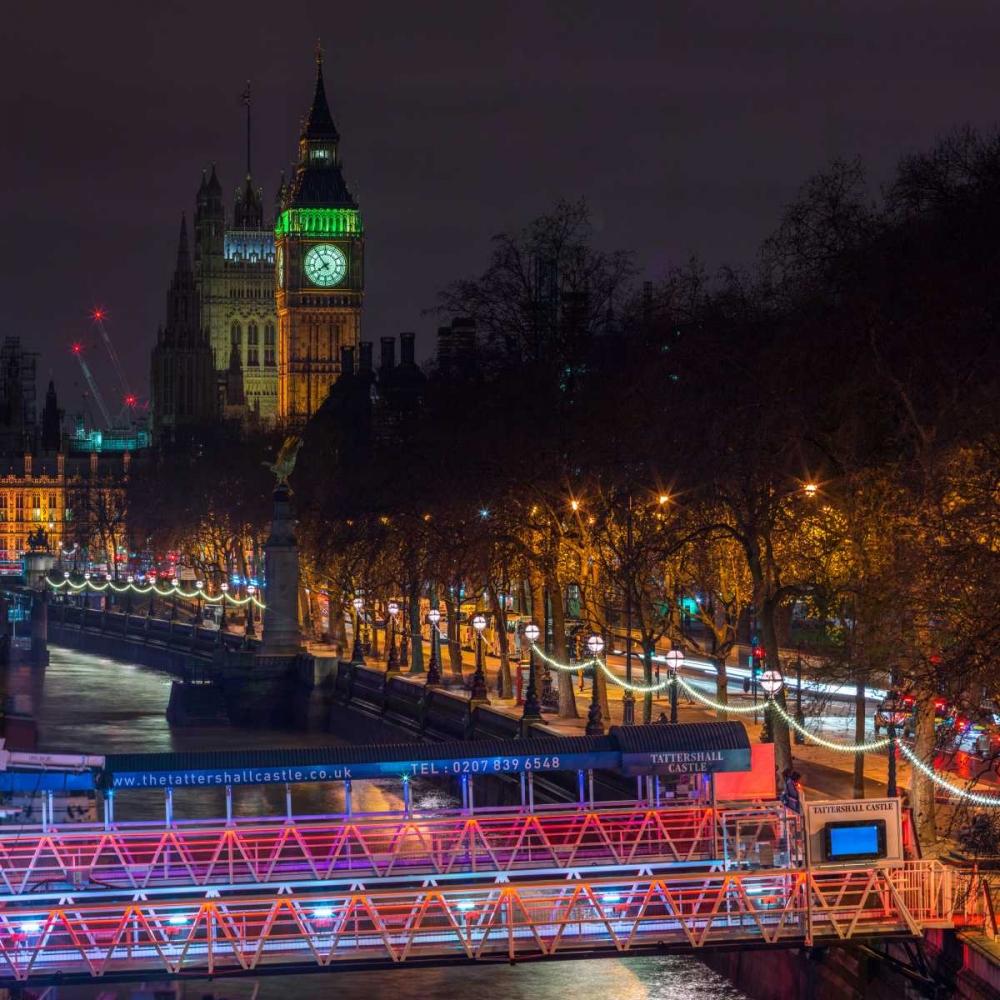 Evening view of Big Ben, London, UK