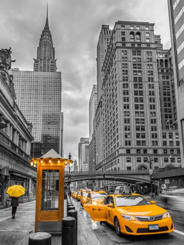 Cab on New York city street