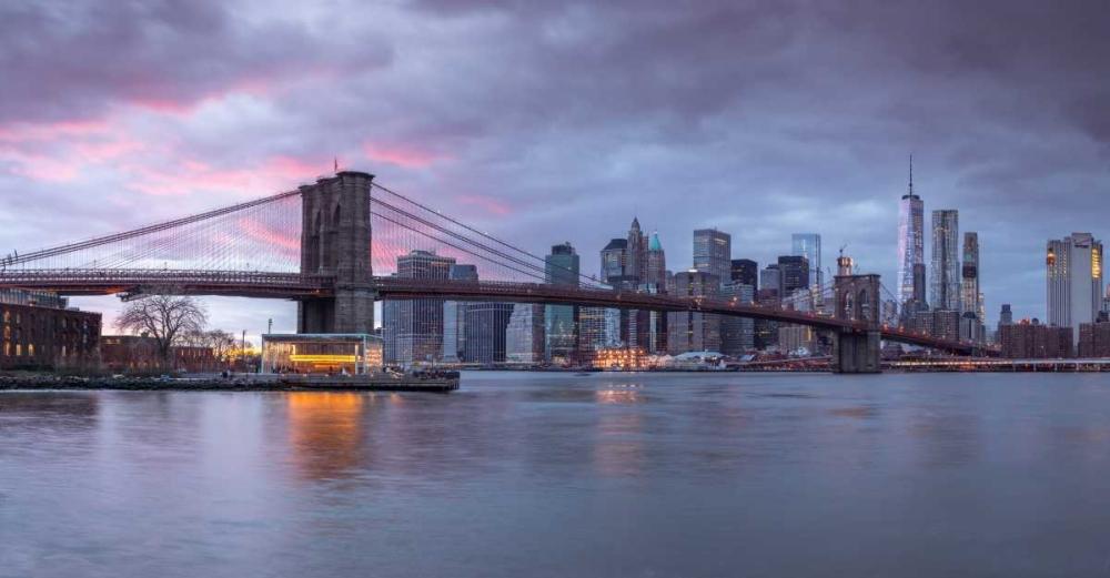 Brooklyn Bridge over East river, New York