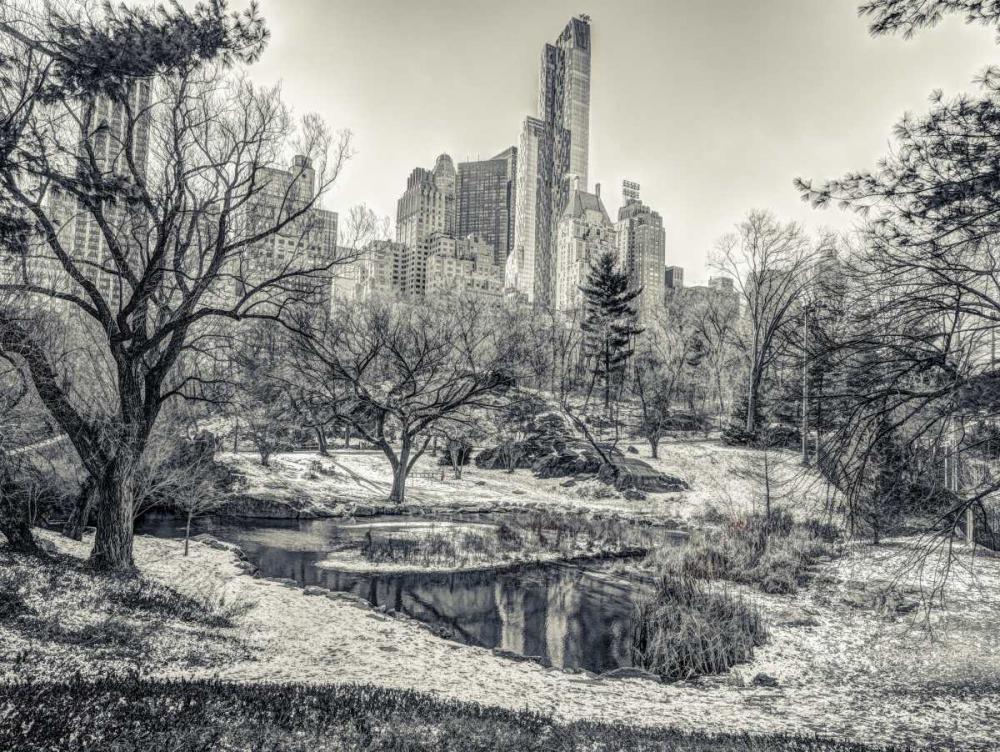 Central park with Lower Manhattan skyline, New York