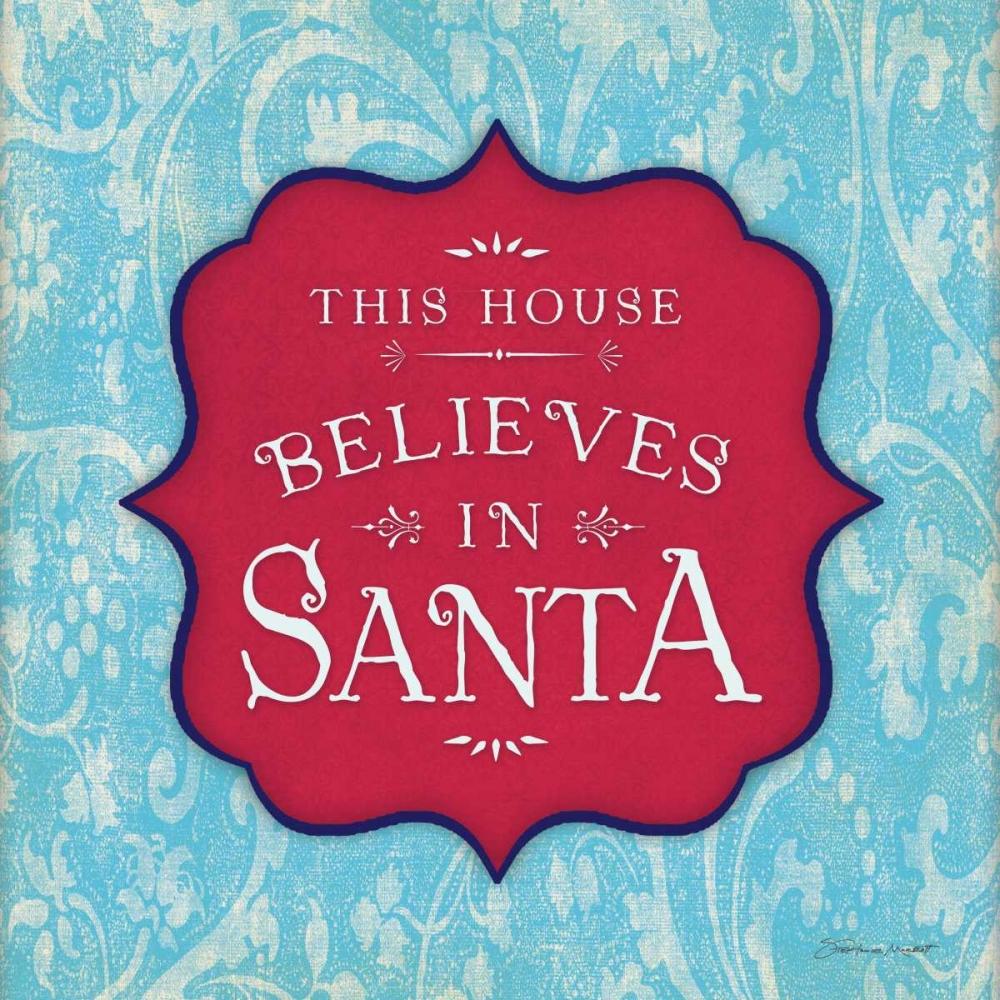 Believe in Santa - Aqua
